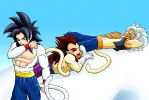 Snow Saiyans by nekoni