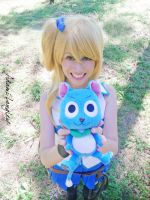Lucy Heartfilia and Happy by adami-langley