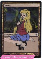 Altered Magic Card: Girl by JessWells