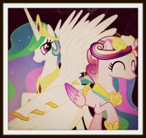 Celestia and Cadance by CelestiasRevenge