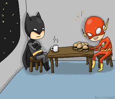 Batflash Break Time by panon