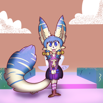 Fennec Fox School Girl by Trevor-Fox