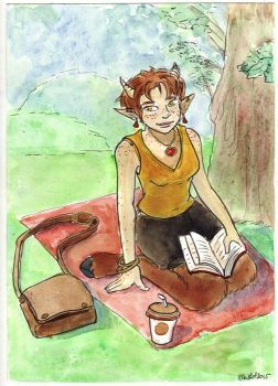 Trudi at the park by Eleithel