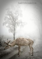 loneliness of a reindeer by little-one-girl