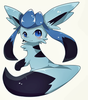 Happy birthday brother :3 (New style to glaceon) by humphreywolf2012