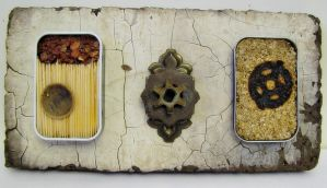 domestic talisman triptych by RedThread11
