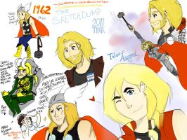 more thor derp sketches by awesome-o-clock