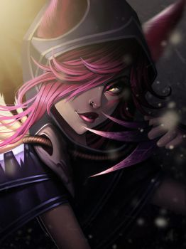 Xayah, the Rebel by JELLYEMILY