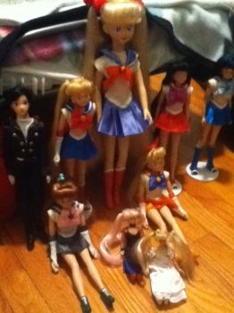 Sailor Moon Doll Collection by keybladeprincess
