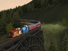 International Train IV - Rogers Pass by Sadguardian
