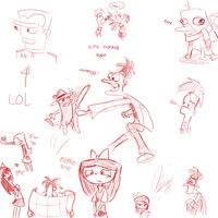 Phineas and Ferb Doodles 2 by Dinzeeyz