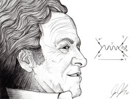 Richard P Feynman by GraphicDensity