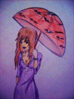 Umbrella Goth Girl by MadCookie333
