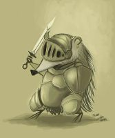 Knight Hedgehog by Shev14th