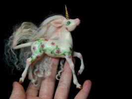 peach blossom unicorn pony by AmandaKathryn