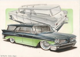 '59 Pontiac Safari Wagon by DominikScherrer