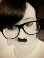 i am hipster hitler. by Lizaardking