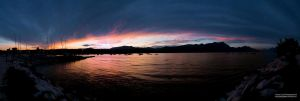 Sunset Lago di Garda by frozennightfall