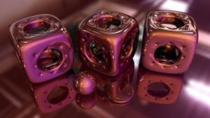 Bryce 10 minute material project - red pearlescent by davidbrinnen
