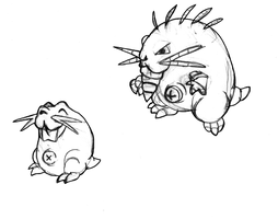Who's that Fakemon? It's Burrowdent and Rodrill! by Trueform