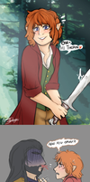 Female Bilbo so cute by Carszl