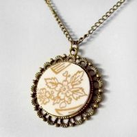 Broken China Pendant 1 by HoneyCatJewelry