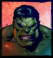 Hulk Sketch Colored by VegasDay