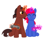 Gamer Ponies 2 by Chimajra