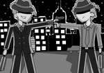 DPOC Noir Art Jam: Get out from my area! by TsundereViolet-Chan