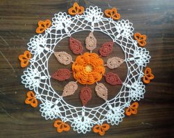 Fall Splendor Doily by koepr5333