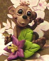 ooak polymer clay monkey by crazylittlecritters