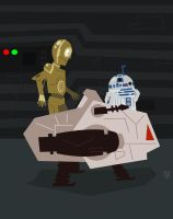 Star Wars PDT-8 C3PO and R2D2 by Eyemelt