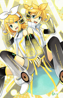 Rin and Len Append by gladyfaith