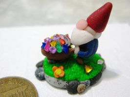house plant deco gnome by GasMaskMonster