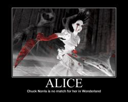 Alice Vs Chuck Norris by AMG-Alice-Liddell