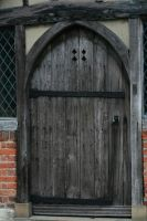 Stock wooden door by Sheiabah-Stock