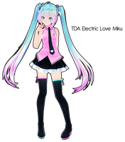 TDA Electric Love Miku DL by Xoriu