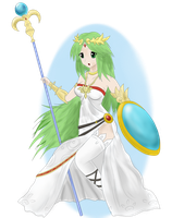 Nevarkun's Palutena by princesseclairtippi