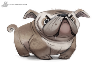 Daily Painting 768. Bulldog by Cryptid-Creations