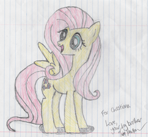 Fluttershy -Colored- by ReuelDreamseer