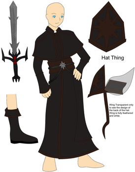 Cleric Clothes Brown Reference by RavenTheraphosa