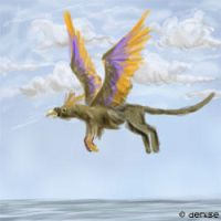 Animated Flying Gryphon by denn