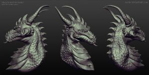 Sculptris - Dragon Bust by Nayro