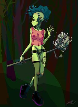 Punk Witch by whiteetoile