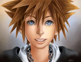 Smiling Sora by sweetdrawingwind