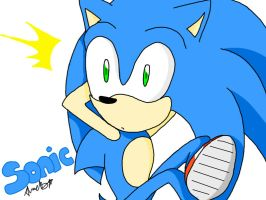 Sonic by Flexie-the-Hedgehog