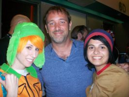 Stan and Kyle meeting Trey Parker by RedVelvetCosplay