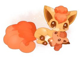 Such a cute vulpix by Glamorivulpix