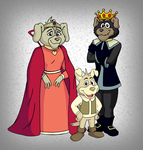 Commission - Royal Dog Family by BennytheBeast