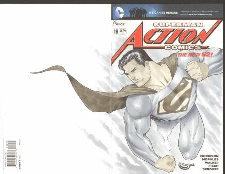 man of steel sketch cover superman by Sajad126